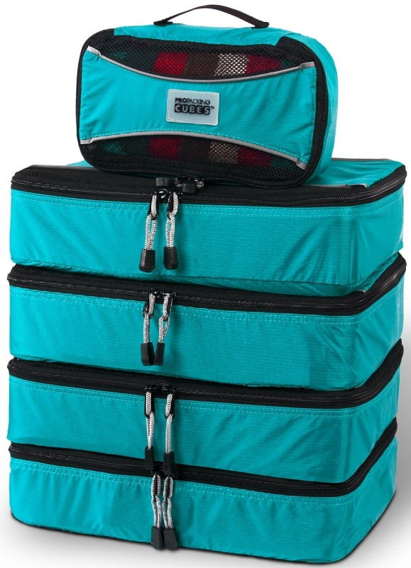 5 Piece Lightweight Travel Packing Cubes Set