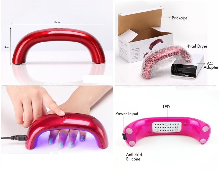Beauty 9W UV Gel Nail Dryer Lamp Salon Kit Led Nail Kit Light Dryer Nails