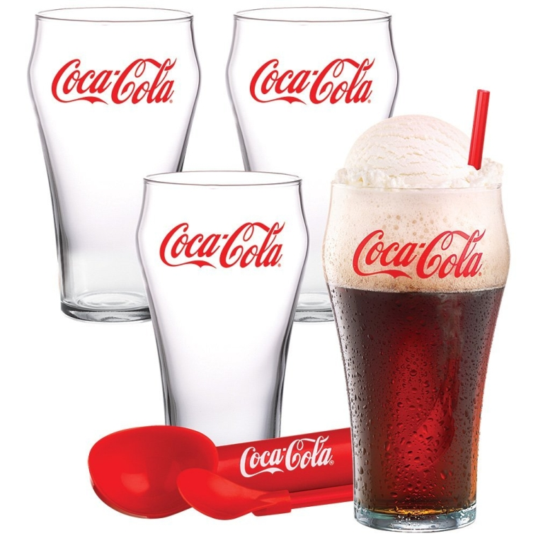 Coca-Cola Coke Ice Cream Float Glasses