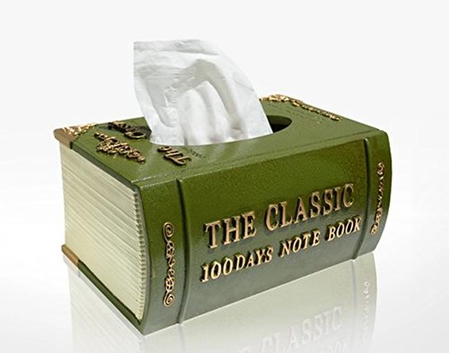 Creative Fashion Retro Classic Book Style Resin Tissue Box