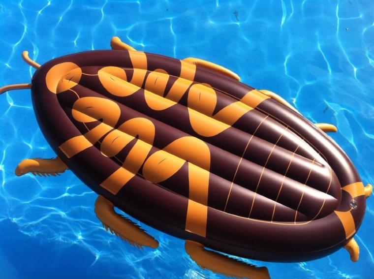 Giant 6 foot Cockroach Swimming Pool and Beach Float