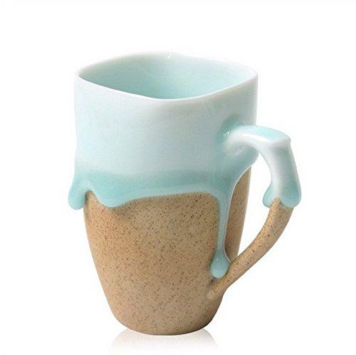 Handcraft Ceramic Glazed Cup Natural Stream-out Glaze
