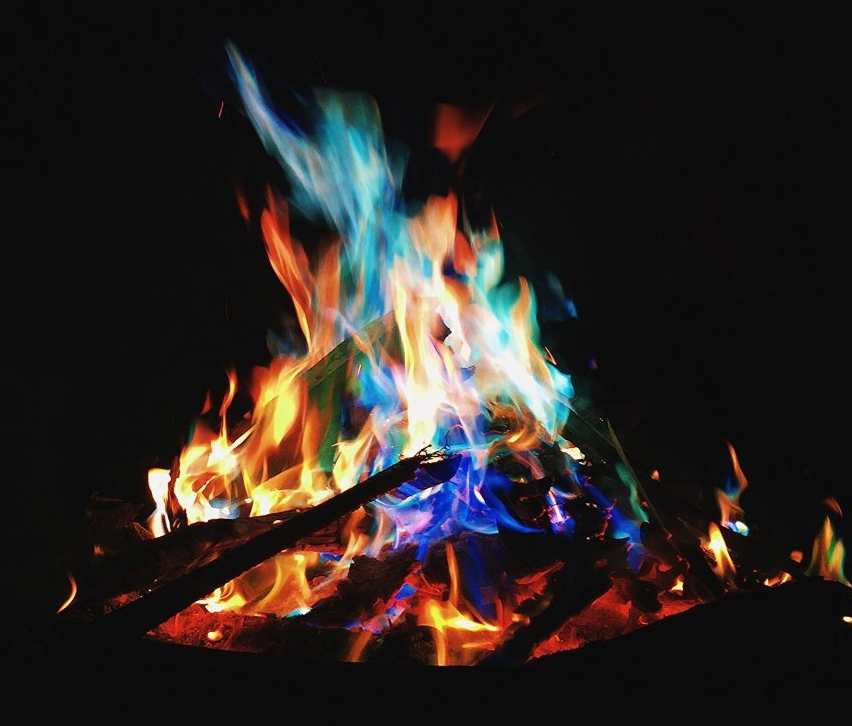 Magical Flames Creates Vibrant, Colorful Flames for Wood Burning Fires