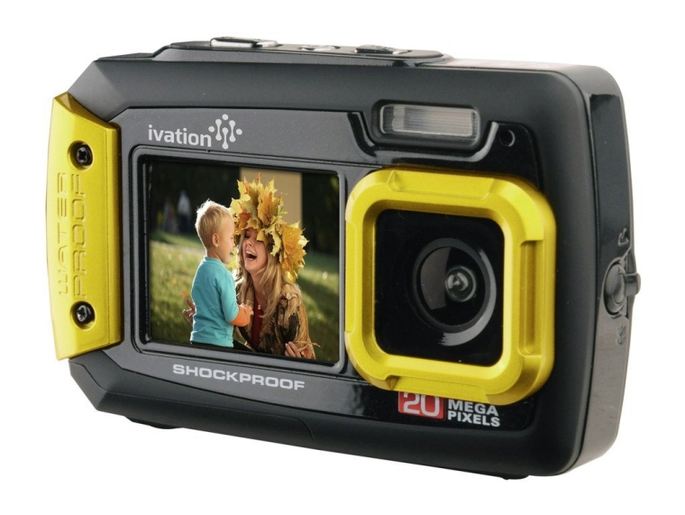 Underwater Shockproof Digital Camera & Video Camera wDual Full-Color LCD Displays