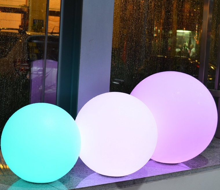 Waterproof Multi Color RGB LED Mood Lamp Remote Controlled Led Light Ball Glow
