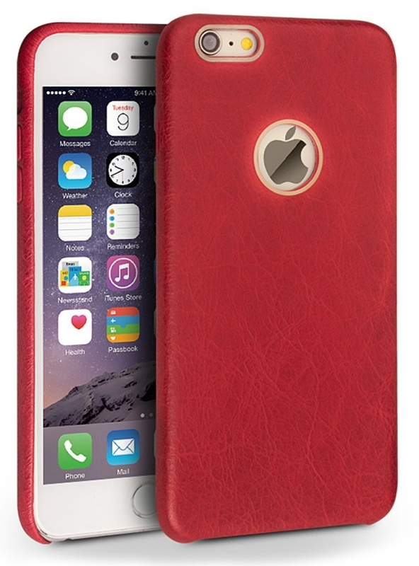 Back Cover Case for 4.7inch Iphone 6, Genuine Leather Stylish Super Slim Protection Phone Case