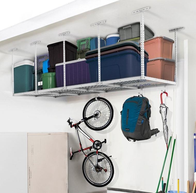 Heavy Duty Overhead Garage Adjustable Ceiling Storage Rack,