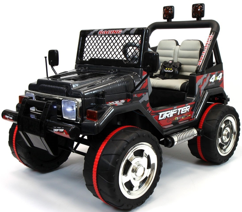 Jeep Wrangler Style 12V Kids Ride-On Car MP3 Battery Powered Wheels RC Parental Remote