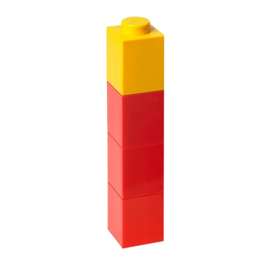LEGO Red Drinking Bottle with Yellow Lid