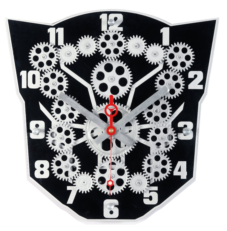 Maple's Clock Moving Gear Wall Clock