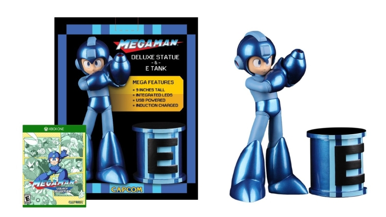Mega Man Statue & E-Tank with Mega Man Legacy Collection Game - Xbox One Special Edition
