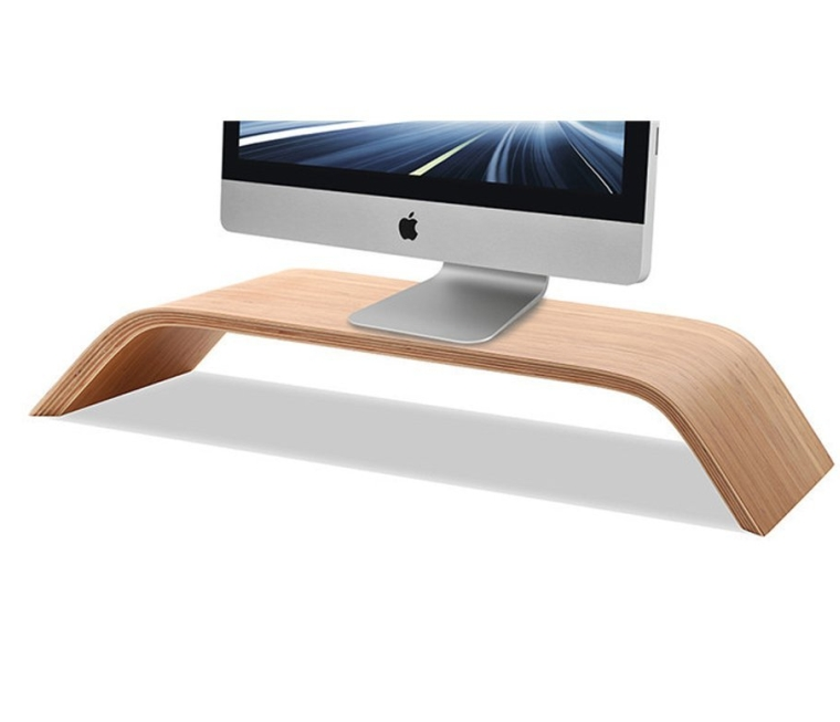Monitor Stand Universal Monitor Arm Multilayer Solid Wood Arch Shelf Smooth Paint Surface Platform Riser