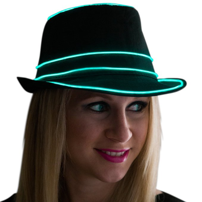 Neon Nightlife Light Up Fedora
