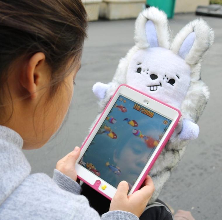 PawdPet Plush Protective Pals Bun Bun (Bunny) Large Magnetic Holder & Carrier