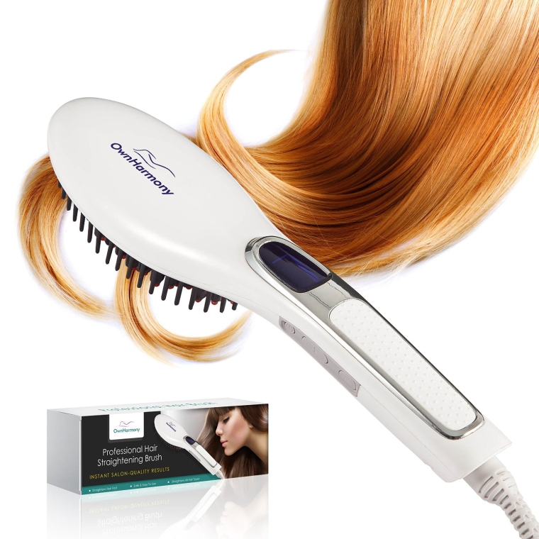 Professional Digital Electric Straightening Comb Styles Healthy & Silky Look