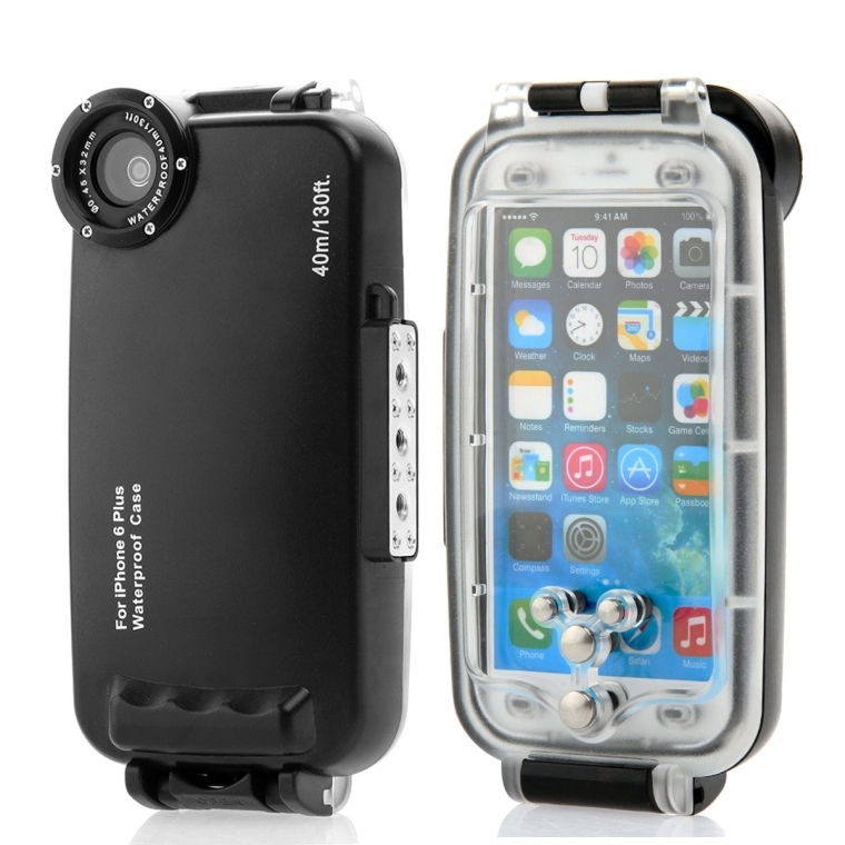 submersible underwater waterproof case iphone 6 plus 5 5 inch. Black Bedroom Furniture Sets. Home Design Ideas