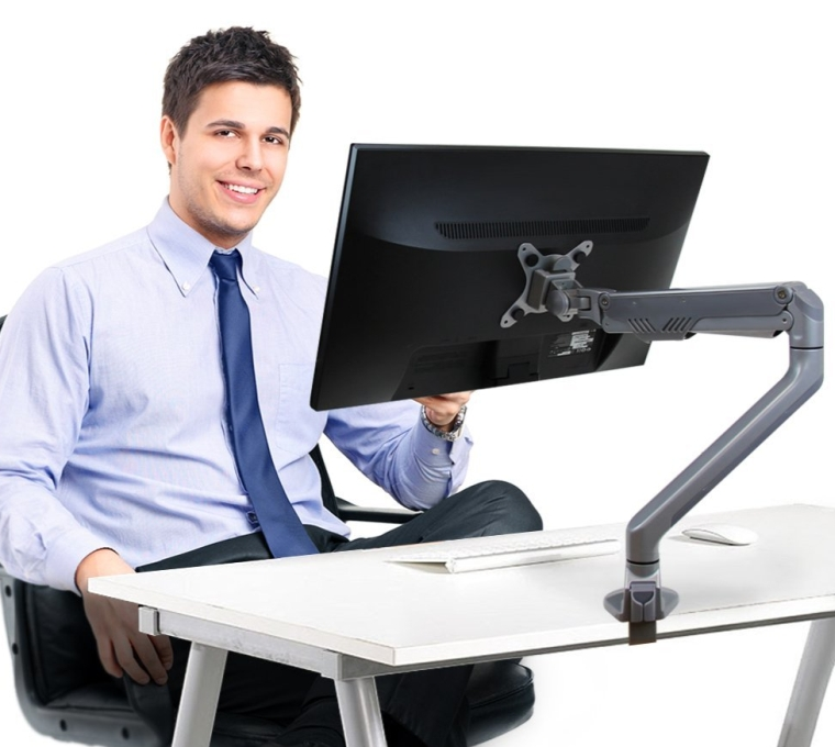 Single LCD Computer Monitor Mount Arm