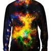 Space Galaxy Ribbon -TShirt- Mens Long Sleeve