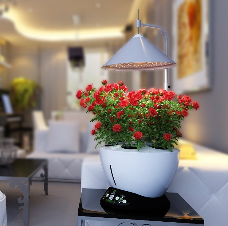 igrow led indoor hydroponics garden herb auto growing kit 7 gadgets. Black Bedroom Furniture Sets. Home Design Ideas
