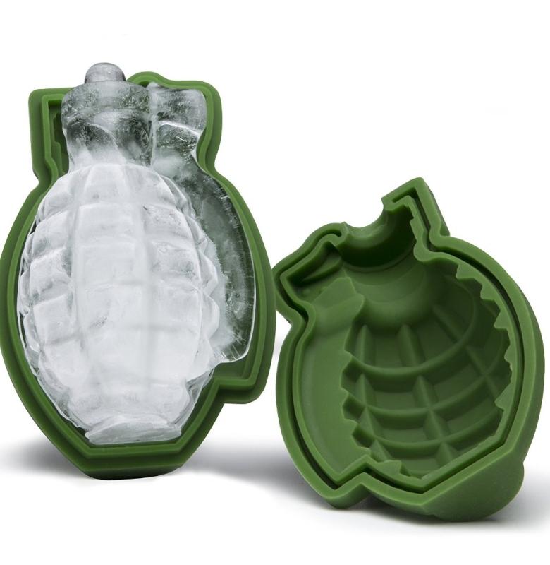 3D Grenade Ice Cube Mold