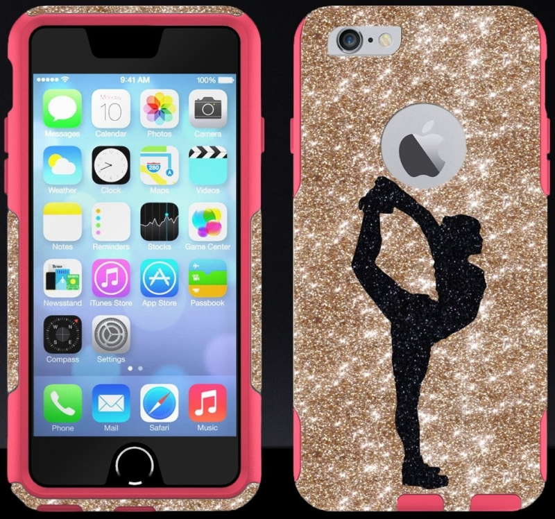 4.7 iPhone 6 Glitter Black Cheerleader Scorpion GoldPink