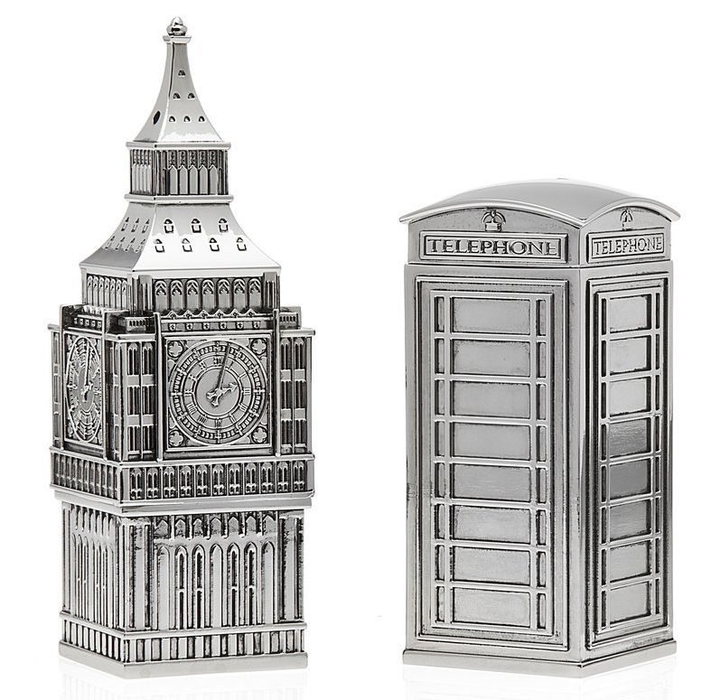Big Ben Phone Booth Salt & Pepper Shakers