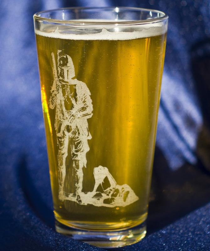 Boba Fett Star Wars Collectible Pint Glass