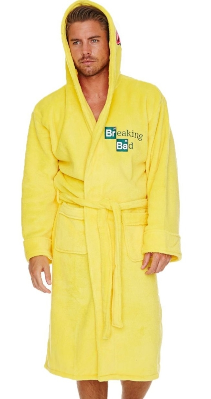 Breaking Bad 'Cooksuit' Yellow Hooded 100%Polyester One Size Bathrobe