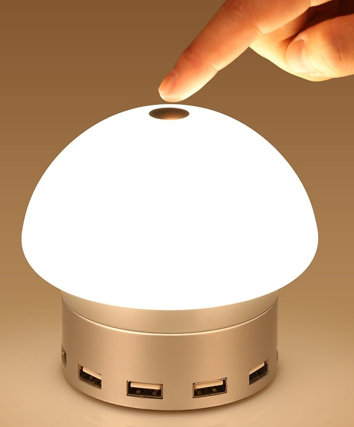 Dimmable LED Desk Lamp  Table Lamp with 6 USB harging Port,