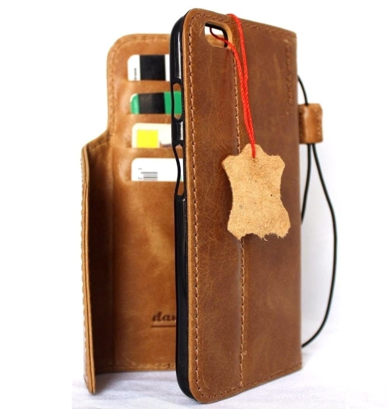 Genuine Italy Oiled Leather Case for Iphone 6 Plus