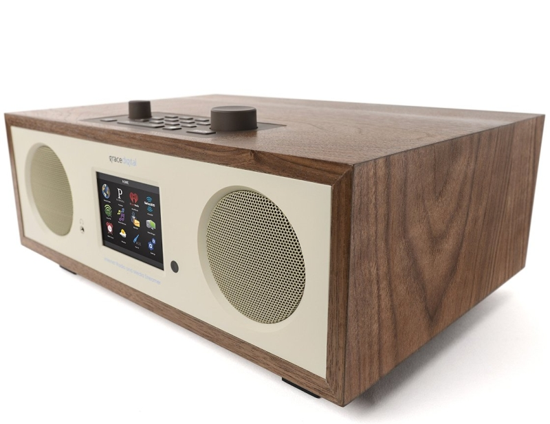 Grace Digital GDI-IRC7505 Stereo Wi-Fi Music System with 3.5 Color Display