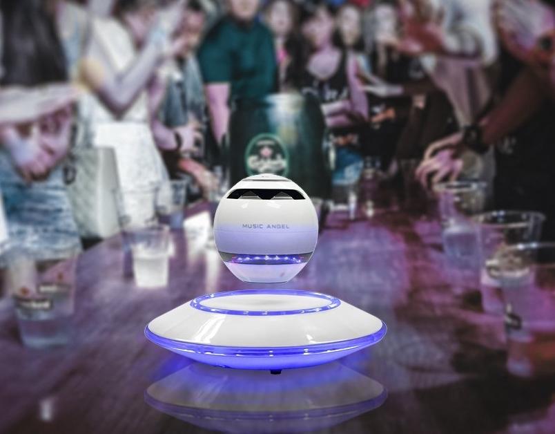 Levitating Bluetooth Speakers MUSIC ANGEL® Multi-color LED Portable Wireless Bluetooth 4.0 Floating Levitation