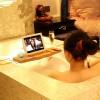 Non-Slip Bamboo Bathtub Tray