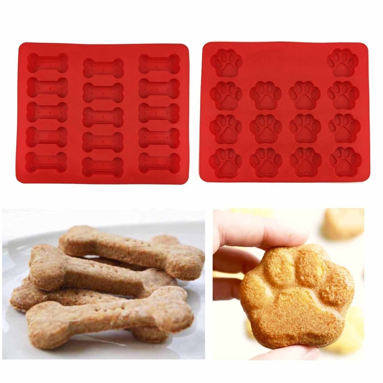 Puppy Paws andBones Silicone Baking Molds-Pan-Ice Trays