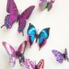Purple 3d Butterfly Wall Stickers