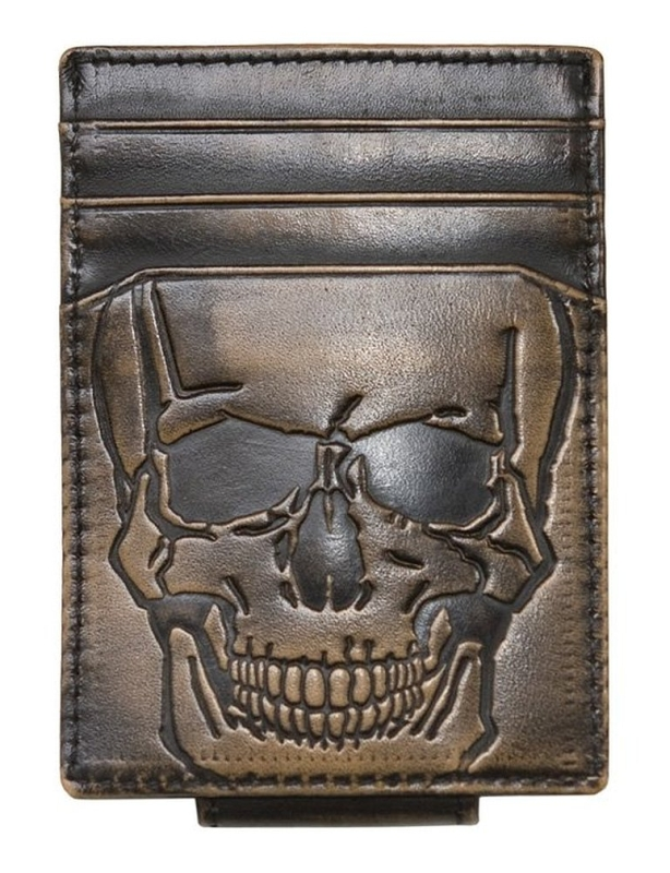 SKULL Front Pocket Wallet