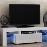 TV Stand MILANO 160 White line  Modern LED TV Cabinet