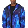 ero Men's Galaxy Digital Print Baseball Jacket