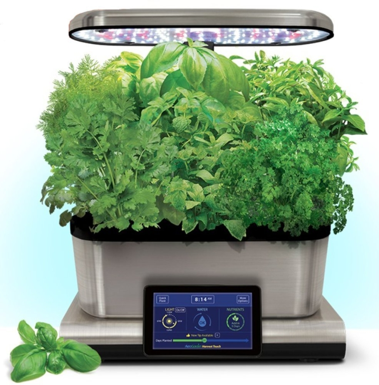 AeroGarden Harvest Touch 6 LED Stainless Steel