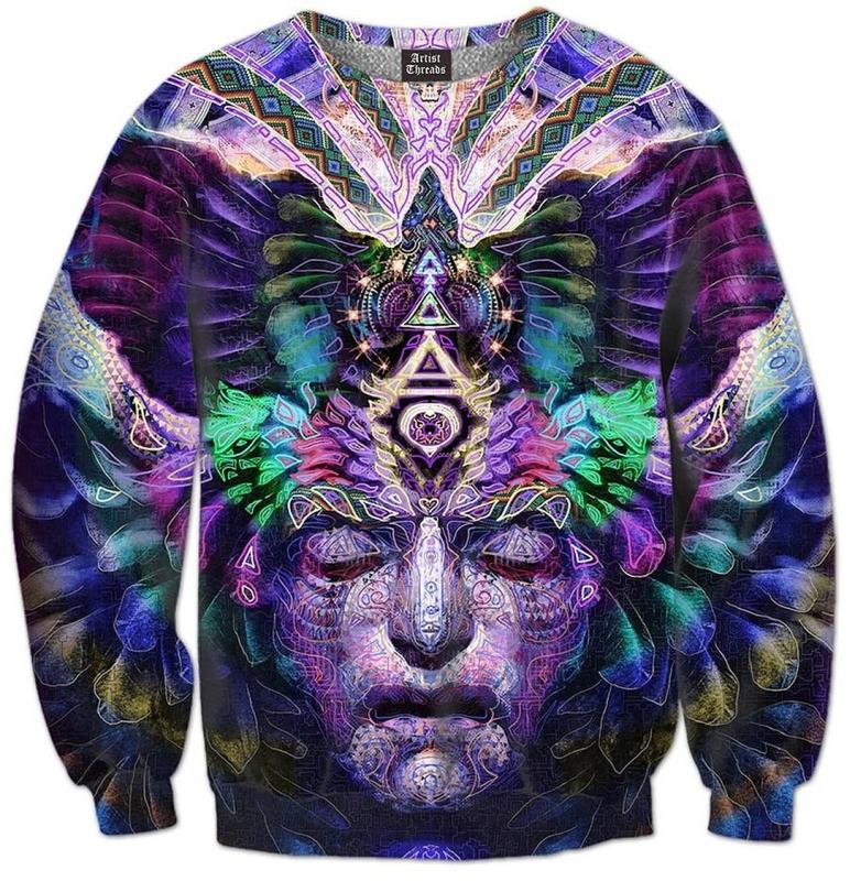 All Over Print Crewneck Sweatshirt