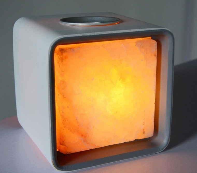 Ascent Himalayan Salt Lamp Natural Crystal Air Purifier and Ionizer