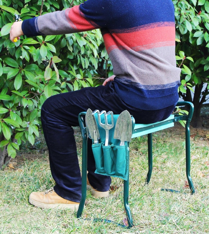Foldable Kneeler And Garden Seat Portable Stool 7 Gadgets