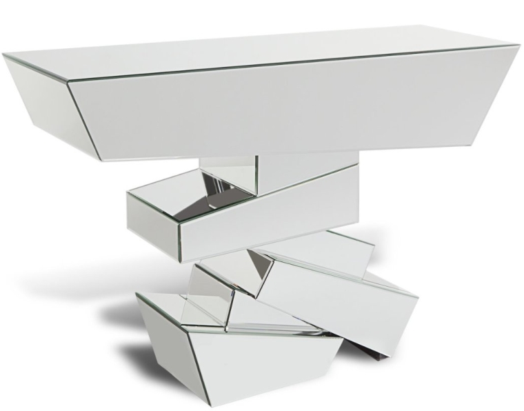 Glass Mirrored Console Table