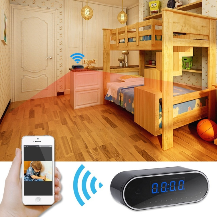 HD P2P Wifi Hidden Camera Clock Video Recorder View