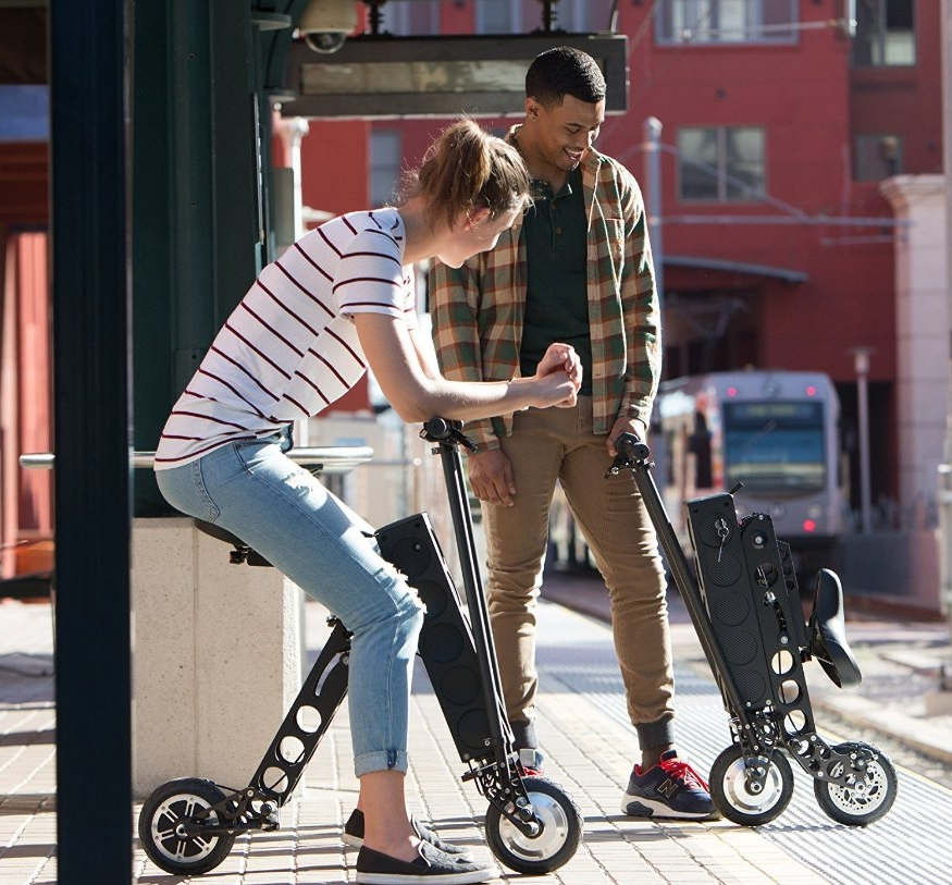 Label Electric Folding Scooter