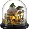 Mini Glassball Wooden Dollhouse Miniature Kit