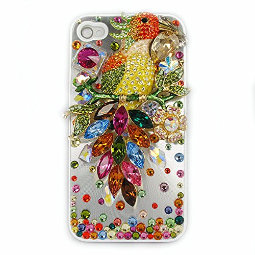 Parrot Rhinestone Phone Case for Apple iPhone
