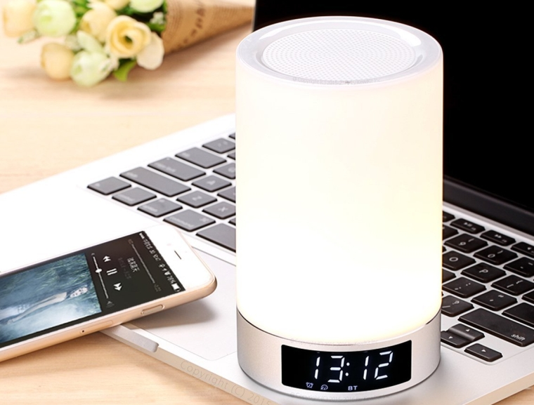 Portable LED touch Lamp Stereo Bluetooth 4.0 Speaker with Color Change Mode