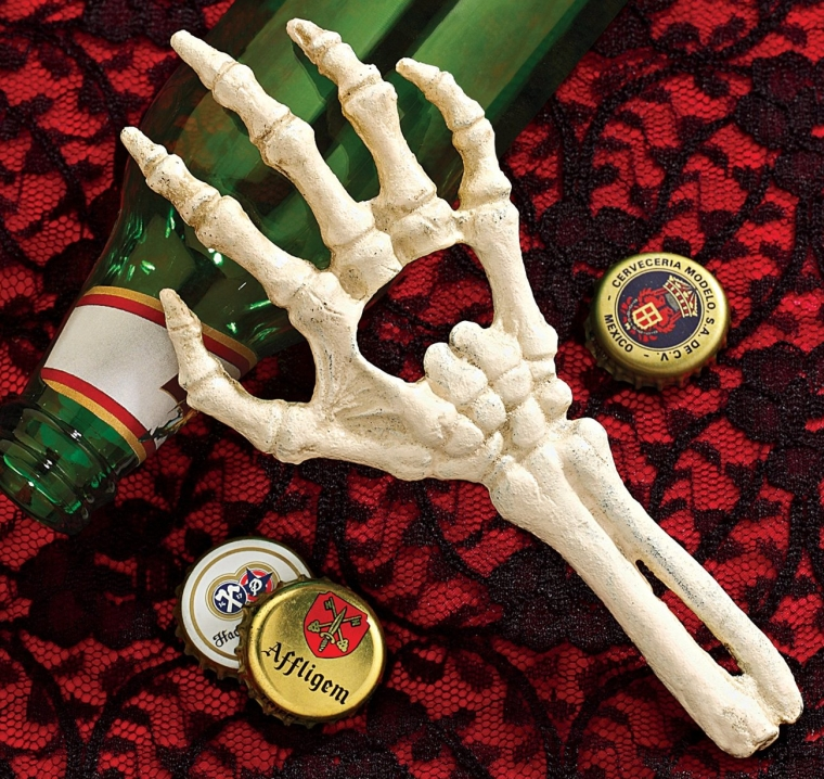 Skeleton Ghost Hand Bottle Opener