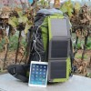 Solar Powered Backpack External Frame Hiking Bag Pack
